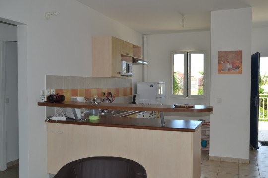 Appartement crystal 118 saint fran ois guadeloupe bord de mer for Cuisine ouverte guadeloupe