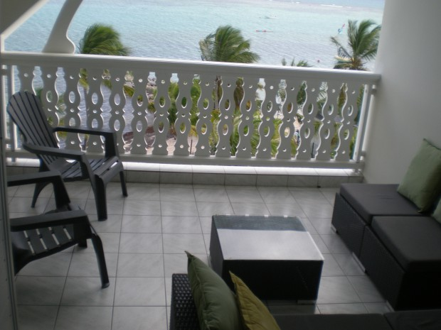 Appartement Guadeloupe - Ref 5572 - Terrasse vue mer