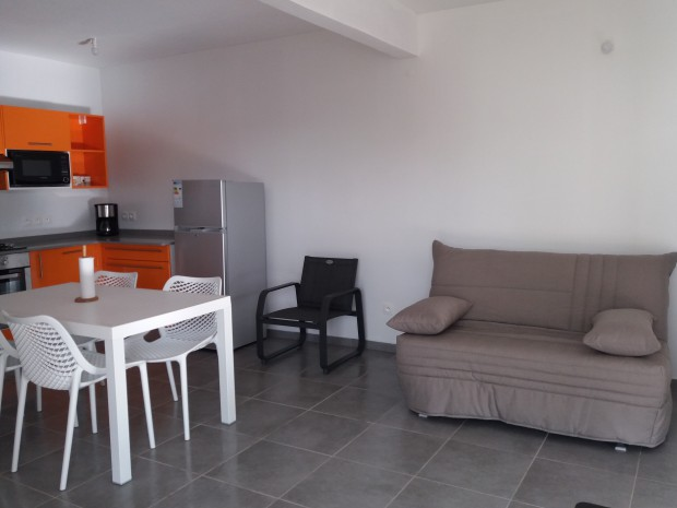 Appartement location vacances sainte anne guadeloupe for Cuisine ouverte guadeloupe