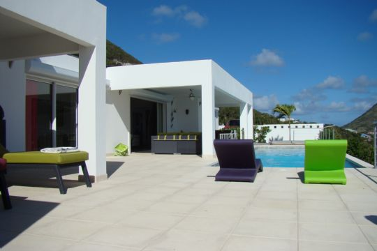 Photo location villa prestige saint martin terrasse couverte