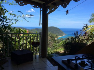 Location Gîte Guadeloupe : vue mer, internet