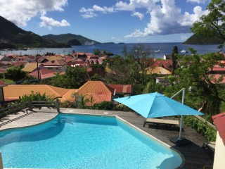 Location Appartement Guadeloupe : vue mer, piscine, climatisation