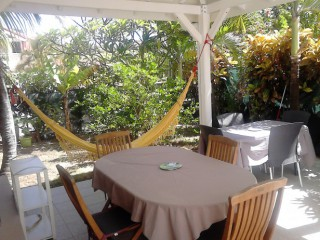 Location Appartement Guadeloupe - terrasse couverte studio