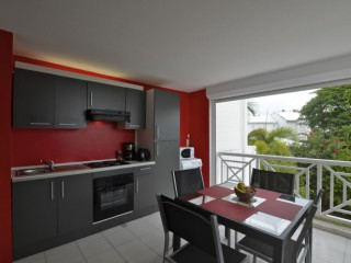 Location Appartement Guadeloupe - Cuisine Terrasse