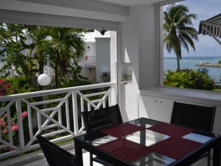 Location Appartement Guadeloupe - Cuisine Terrasse vue Mer