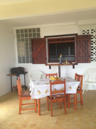 Location Appartement Guadeloupe - Terrase / Espace barbecue