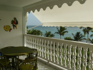 Location Appartement Guadeloupe - terrassse vue lagon