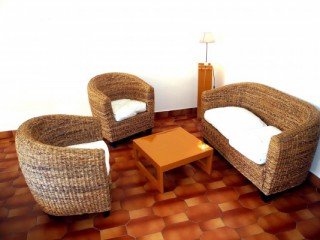 Location Appartement Guadeloupe - salon + balcon