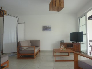 Location Appartement Martinique - Salon confortable TV écran plat