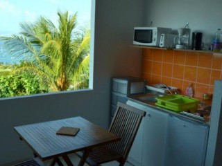 Location Appartement Martinique - Studio  Pierre  - Kitchenette sur la terrasse