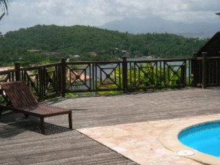 Location Studio Martinique : vue mer, piscine, clim, internet