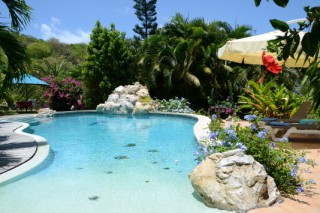 Location Appartement Saint-Martin - Piscine avec Cascade Villa Orange