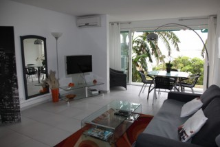 Location Appartement Saint-Martin - coin salon et sa splendide vue mer