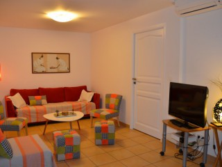 Location Appartement Saint-Martin - Villa Orange, App.Oasis, salon