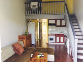 Location Appartement standing Guadeloupe - (F2) Salon + Cuisine ouverte