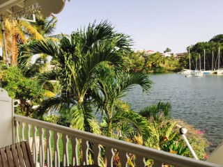 Location Appartement standing Guadeloupe - (F2) Terrasse et vue mer