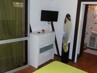 Location Bungalow Guadeloupe - Chambre 1 + Vue SDB