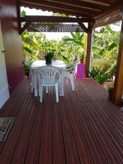 Location Bungalow Guadeloupe : vue mer, climatisation