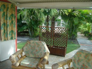Location Bungalow Guadeloupe - Terrasse Gîte Pamplemousse