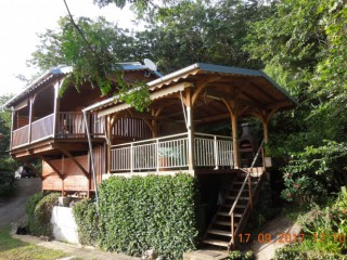 Location Bungalow Guadeloupe : vue mer