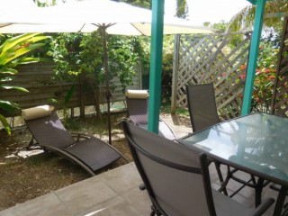 Location Bungalow Guadeloupe - La terrasse