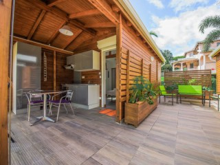 Location Bungalow Guadeloupe - terrasse commune