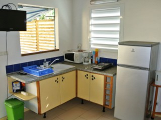 Location Bungalow Guadeloupe - coin cuisine 3*