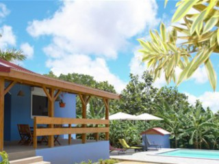 Location Bungalow Guadeloupe : piscine, climatisation, internet