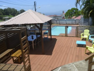 Location Bungalow Guadeloupe : vue mer, piscine, internet
