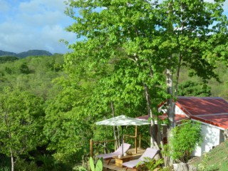 Location Bungalow Guadeloupe : vue mer, internet