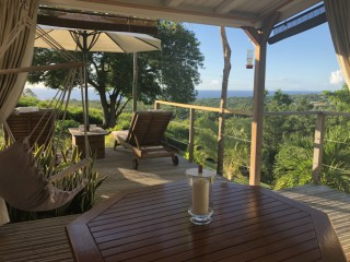 Location Bungalow Guadeloupe - Vue mer