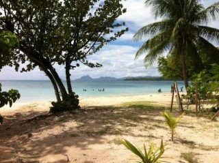 Location vacances Bungalow Sainte-Anne: plage  de la pointe du marin a 100m  des bungalows ...<br />