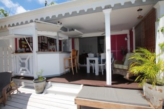 Location Bungalow Saint-Martin : vue mer, clim, internet
