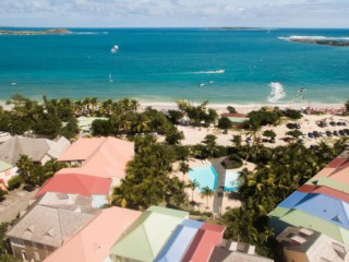 Location Duplex Saint-Martin : vue mer, piscine, clim, internet