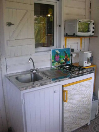 Location Appartement Guadeloupe - Cuisine ext