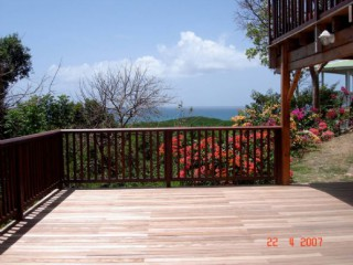 Location Appartement Guadeloupe - terrasse privative, vue sur Marie-Galante