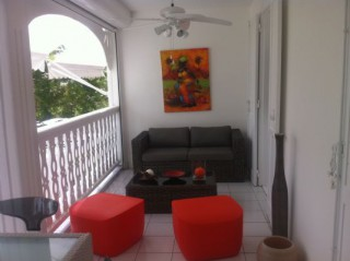 Location Appartement Guadeloupe - le salon terrasse