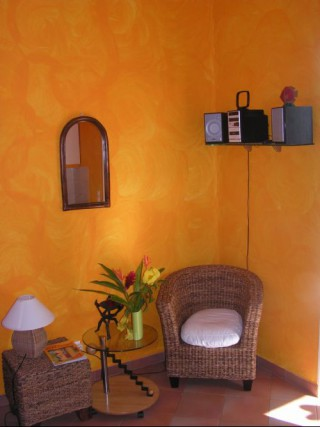 Location vacances Bungalow Sainte-Rose: Coin salon ...<br />
