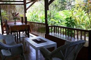Location Gîte Guadeloupe - Terrasse intérieure Hibiscus