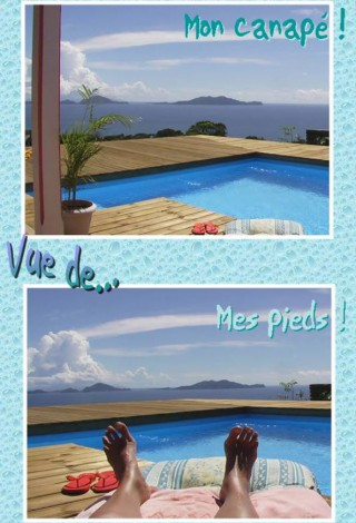 Location G�te Guadeloupe: vue mer, piscine, climatisation, connexion internet