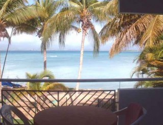 Location Studio Guadeloupe : vue mer, piscine, climatisation, animaux, internet