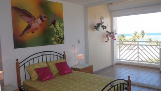 Location Studio Guadeloupe: vue mer, climatisation, connexion internet