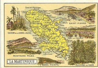 Location vacances Studio Robert: carte de la martinique ancienne ...<br />