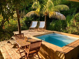 Location vacances Studio Robert: coin piscine ...<br />