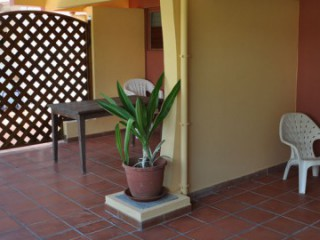 Location Studio Martinique - Résidence Macabou - Terrasse 30m2 du T2  Chocolat