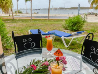 Location Studio Saint-Martin - Terrasse vue mer