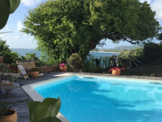 Location Studio Saint-Martin : vue mer, piscine, clim, internet