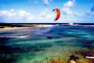 Location vacances Studio Marigot: kite surf galion ...<br />