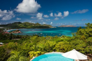 Location Villa prestige Saint-Barth : vue mer, piscine, clim, internet