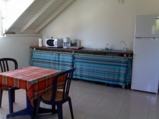 Location Appartement Guadeloupe - coin cuisine studio 1